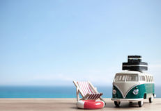 Summer vacation background with space Stock Image