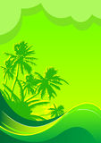 Summer vacation background stock illustration