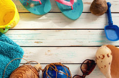 Summer vacation background Stock Photography