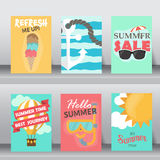 Summer vacation background. vector Royalty Free Stock Image