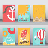 Summer vacation background. vector Royalty Free Stock Photo