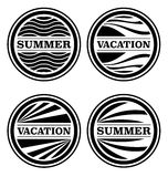 Summer and Vacation Badges Royalty Free Stock Image