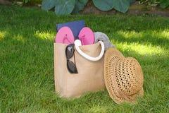 Summer vacation bag Royalty Free Stock Image
