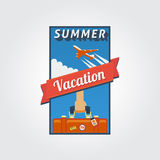 Summer vacation banner 01 Royalty Free Stock Photo