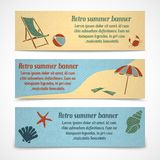 Summer vacation banners horizontal Stock Photos