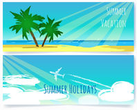 Summer vacation banners Royalty Free Stock Images