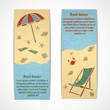 Summer vacation banners vertical Stock Image