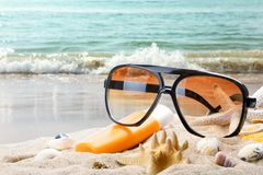 Summer vacation from beach Royalty Free Stock Images