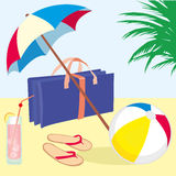 Summer_vacation_beach Stock Afbeelding