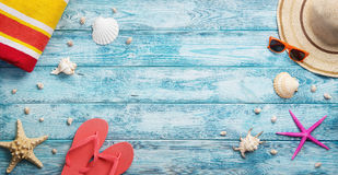 Summer, vacation, beach accessories Stock Photography