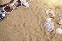 Summer vacation,beach accessories Royalty Free Stock Image