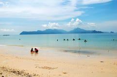 Summer Vacation Beach- Andaman. View of Andaman Sea taken from the beautiful Datai beach of Langkawi Island, Malaysia Royalty Free Stock Photography