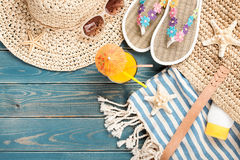 Summer vacation beach Stock Images