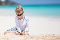 Summer vacation at the beach Stock Image