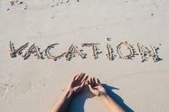 Summer vacation at the beach concept Stock Photos