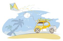 Summer vacation on the beach Royalty Free Stock Photos