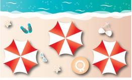 Summer vacation beach header or banner Royalty Free Stock Photos