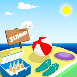 Summer Vacation Board Beach Seaside Holiday Stock Images