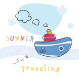 Summer vacation boat Royalty Free Stock Image