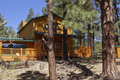 Summer Vacation Cabin In the Mountain Woods Royalty Free Stock Photos