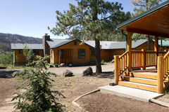 Summer Vacation Cabin In the Mountain Woods Stock Photo