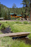 Summer Vacation Cabin In the Mountain Woods Stock Images