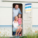 Summer vacation in camper royalty free stock photography
