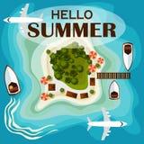Summer vacation card Stock Photos