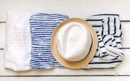 Summer vacation clothes and a ha Royalty Free Stock Photo