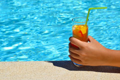 Summer vacation cocktail Royalty Free Stock Photos