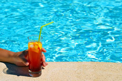 Summer vacation cocktail Royalty Free Stock Image