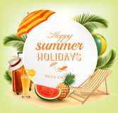 Summer vacation concept background. Royalty Free Stock Images