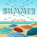 Summer vacation concept background. Sea landscape summer beach Royalty Free Stock Photos