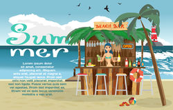 Summer vacation concept background with space for text. Royalty Free Stock Photos