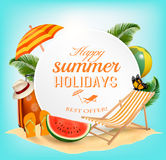 Summer vacation concept background. Stock Photography