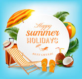 Summer vacation concept background. Stock Photo