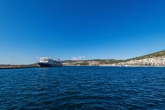 Summer vacation concept Cruise ship Stock Images
