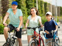 Summer vacation day of  parents with son Royalty Free Stock Images