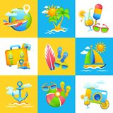 Summer Vacation Design Concept Royalty Free Stock Image