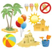 Summer vacation, design elemen Stock Photography