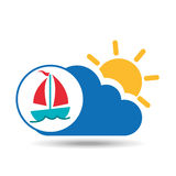 Summer vacation design sailing boat icon Royalty Free Stock Photos