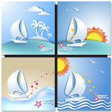 Summer vacation design set Royalty Free Stock Images