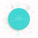 Summer Vacation Emblem Royalty Free Stock Photography