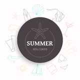 Summer Vacation Emblem Stock Images