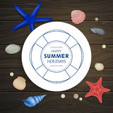 Summer Vacation Emblem Stock Photography