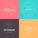 Summer Vacation Emblems Stock Image