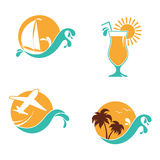 Summer vacation emblems set Royalty Free Stock Photos