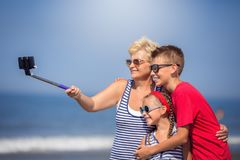 Summer, vacation, family concept royalty free stock photos