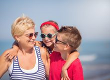 Summer, vacation, family concept. stock photography