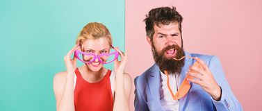 Summer vacation and fashion. Office party. Best friends. Happy c. Ouple in party glasses. Frienship of happy men and woman. Hipster. Couple in love. Relations royalty free stock image